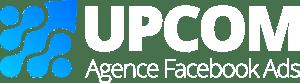 UPCOM Sàrl | Agence de publicité Facebook et Instagram | Logo blanc
